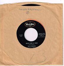 "FOUR SEASONS Walk Like A Man b/w Lucky Ladybug 1963 Vee Jay VJ-485 EX Sound ""45"""
