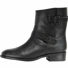 UGG Womens Fletcher Ankle Boots Leather Black.Size 6.5 Uk To Fit Size 6 New £100