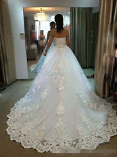 New White/Ivory Lace Bridal Gown Wedding Dress Custom Size 2 4 6 8 10 12 14 16 +
