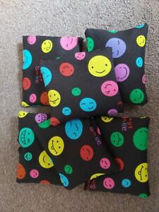 Kids Indoor  Soft Fun Play Bean Bags Multi Coloured Pack Of 4 UK