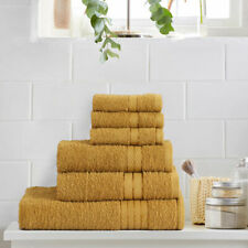Luxury Hand Towels Egyptian Cotton Bath Bathroom Towel Face Cloth 6 Pack Mustard
