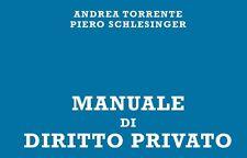 RIASSUNTO Manuale di diritto privato - A. Torrente - P. Schlesinger