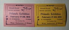 Winpex St Petersburg Fl Winter Headquarter Philately Sunshine City 1941 Souvenir