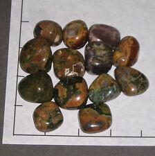 RHYOLITE, RAINFOREST med-lg tumbled 1/2 lb bulk stones, opal Australia 12-15 pk