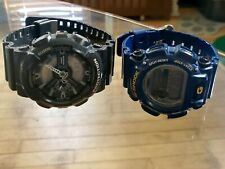 Two Casio G-Shock watches GA110C Wrist Watch for Men and Blue DW-9052