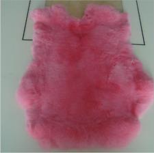 2pcs 100% Natural Rex Rabbit Crafts Arts Real Rabbit Leather Hide Fur Pelt Decor