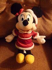"DISNEY Santa Minnie Mouse Christmas Bendable Plush 15"""