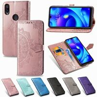 For Xiaomi Pocophone F1 Redmi 5A Mandala Leather Flip Stand Card Wallet Cover