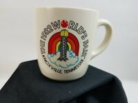 1982 Knoxville TN World's Fair Coffee Tea Mug Cup - Marked USA