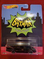 🎄FAST SHIP☃️ Hot Wheels Premium Batman Classic TV Series Batmobile Real Riders
