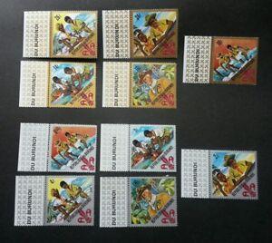 Burundi 60th Anniv Of Boy Scouts 1967 Scouting (stamp margin) MNH *see scan