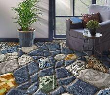 3D Blue Stone SKE042 Floor Wall Paper Wall Print Decal Wall Deco Bea