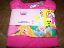 Size 24 Months Disney Princess Flannel Pajamas Belle Cinderella Aurora Pink New