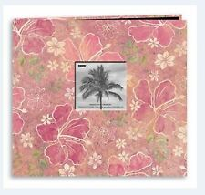 Pioneer Photo Album ~ Postbound 12x12 HIBUSCUS FRAME  Travel, Floral  ~MB10TRPH