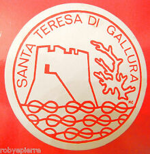 Adesivo sticker vintage SANTA TERESA DI GALLURA sardegna costa smeralda sardo