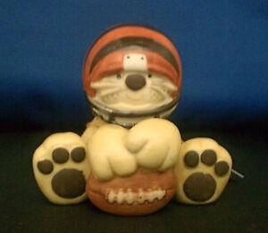 Cincinnati Bengals Huddles Porcelain Tiger Figurine Who Dey Jungle NFL Licensed