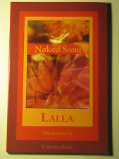 Naked Song : Poems by LALLA Coleman Barks 1992 Paperback Poetry Mysticism Women