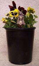 Flower Pot Hugger Fairy #7 NEW bronse toned polystone