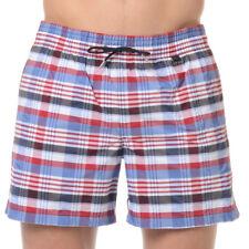 HOM Chateau pool sexy swimming shorts trunks tartan check lined pool beach