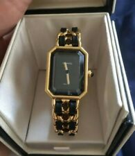 Chanel Premiere Black & Gold Watch