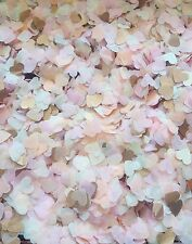 3000 Smal HEART Confetti - Assorted mix, Gold, Silver and pink, mint, blue ivory