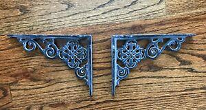 Gray Antique Style Cast Iron Shelf Brackets Garden Braces Rustic Bracket 7.5''
