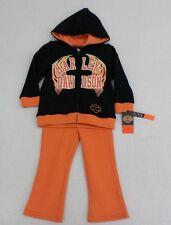 Harley-Davidson Toddler Girls Full Zip Sweatshirt, Sweatpants & Top Size 4T