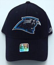 c92d22f3064 NFL Carolina Panthers Reebok Adult Structured Stretch Fit Curved Brim Cap  NEW!