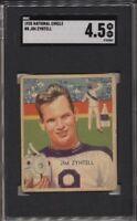 1935 National Chicle #8 Jim Zyntell LN SGC 4.5 VG-EX+