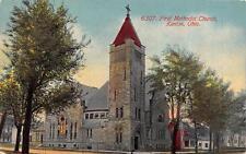 KENTON, OH  Ohio      FIRST METHODIST CHURCH  Hardin County    1911 Postcard
