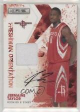 2009-10 Panini Rookies & Stars Signatures /25 Jermaine Taylor #28 Rookie Auto