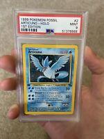 PSA 9 1st Edition Articuno Holo 1999 WOTC Pokemon Fossil 2/62