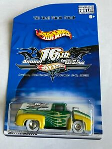 2002 hot wheels lucky '56 16th convention '56 ford panel truck w/rr 1 of 2000 le