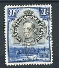 Kenya Uganda Tanganyika kgvi 1938-54 30 C Nero & Blu-Violetto di noia SG141a USATO