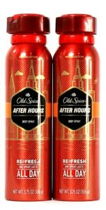 2 Old Spice Red Collection 3.75 Oz After Hours Refresh Lasts All Day Body Spray