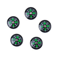 5x Mini Pocket Liquid Filled Button Compass Outdoor Camping Hiking Survival
