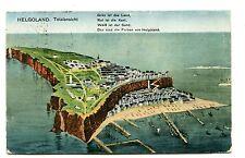 Vintage Postcard HELGOLAND Totalansicht  1926 on board Turb Dampfers Cobra