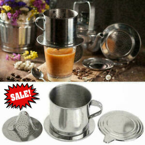 Steel Vietnamese Coffee Drip Press For Office E6H3 X3K1 M Cup G0Q4