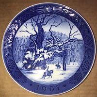 "Vintage ROYAL COPENHAGEN 1967 ""THE ROYAL OAK"" Denmark 7"" Collector Plate"