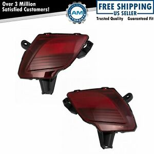 Depo Rear Bumper Mounted Reflector Pair Driver Passenger Sides for Mazda CX-5