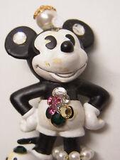 Vintage Design Strass Brosche Brooch Walt Disney Mickey Maus Figur Bully Nr.64