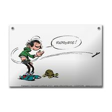 PLAQUE EMAILLEE BOMBEE COUSTOON 20 x 30 CM - GASTON LAGAFFE TORTUE