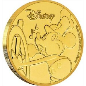 Niue - 2018 - 1/4 OZ Gold Proof Coin-  Mickey Mouse 90th Anniversary