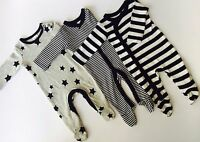 3 Pack NEW Ex TU Baby Boys/Girls Sleepsuits Prematue Tiny Baby 3 6 Months