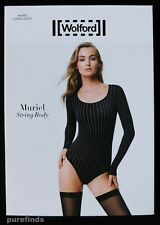 WOLFORD MURIEL STRING BODY 78277, BODYSUIT, SMALL, Colour black/white New in box