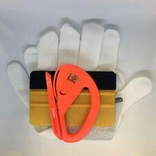 Kit applicazione pellicole car wrapping (Spatola 3M oro - taglierino - Guanti)