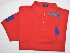 New L XL XXL POLO RALPH LAUREN Men Big Pony Sash polo shirt top blue Classic Fit