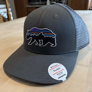 Patagonia Fitz Roy Bear Trucker Hat - New With Tags - Forge Grey - Discontinued