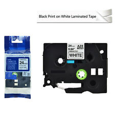 Compatible Brother TZ-251 Tze-251 Black Ink on White Label Tape 24mm 0.94""