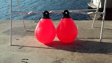 """DAN-FENDER 2  12"""" RED BUOYS TOP QUALITY FENDER MADE! COMPARE TO TAYLORMADE!"""
